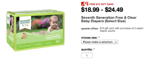 $10 gift card with the purchase of 2 boxes!